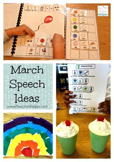 Adapted books, recipes & craft activities to do throughout the month of March! From theautismhelper.com