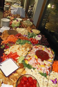 Mediterranean Market Food Display.  Catered by Phoebe's Restaurant and Coffee Lounge in Syracuse, NY.