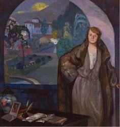 Gustavo de Maeztu, «Mi hermana María», 1924. Óleo sobre lienzo, 184 x 174 cm. Museo Gustavo de Maeztu, Ayuntamiento de Estella-Lizarra.