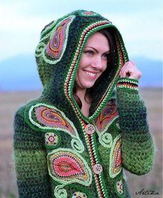 crochet sweater by Maiden11976