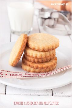 Maślane kruche ciasteczka