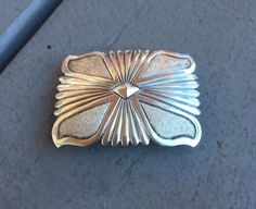 Vintage Native American Navajo Sterling Silver Belt Buckle ~ 925 ~ Hand Stamped or Overlay Rectangle Concho by Statusjacker on Etsy https://www.etsy.com/listing/477147478/vintage-native-american-navajo-sterling