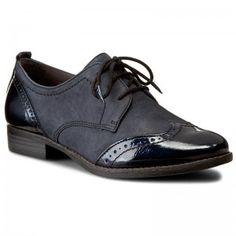 Oxford cipők TAMARIS - 1-23202 Navy 805