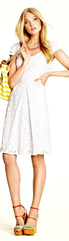Adrianna Papell Embroidered Fit and Flare Dress