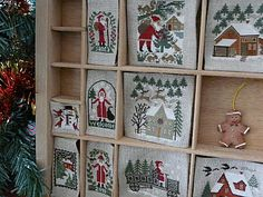 Cross stitch in printers tray Xmas Cross Stitch, Cross Stitching, Cross Stitch Embroidery, Cross Stitch Designs, Cross Stitch Patterns, Christmas Shadow Boxes, Halloween Quilts, Cross Stitch Finishing, Theme Noel