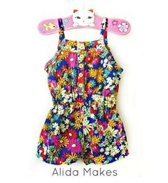 Tutorial: Mini Boden inspired shorts romper for little girls
