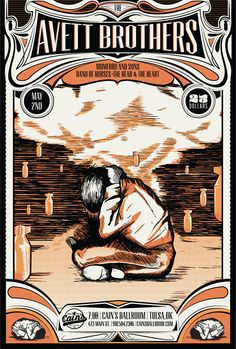 Avett Brothers Gig poster - these guys are FLIPPING AMAZING in concert!!! just saw them at the Mann in September! whoa!!
