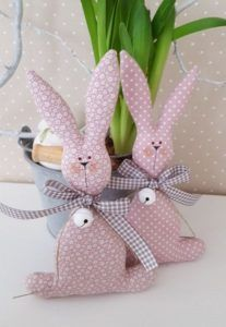 Easter bunnies, pattern (6 photos)