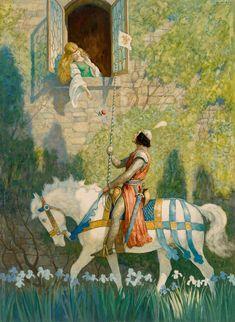 #art #love N.C. WYETH The Prince Oil on Hardboard 36.5″ x 26.5″