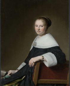 Portrait of Maria van Strijp, Johannes Cornelisz. Verspronck, 1652. Rijksmuseum Amsterdam.