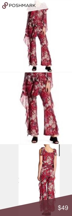 TOV HOLY Butterfly Dropped Chiffon Trouser PANTS NEW TOV HOLY Butterfly Dropped Chiffon Trouser PANTS SZ 38 $144 NORDSTROM TOV Holy Pants