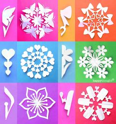Valentine Snowflake templates – Easy homemade DIY tips, instructions and templates! Paper Snowflake Designs, Paper Snowflake Template, Paper Snowflakes, Snowflake Origami, Origami Templates, Box Templates, Christmas Crafts For Kids, Handmade Christmas, Holiday Crafts