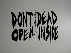 Dead Inside from The Walking Dead Wall Decal 20 X by ValueVinylArt, $12.00