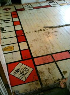 Man discovers giant Monopoly board under carpet - I wonder what the pieces they used to play it look like!