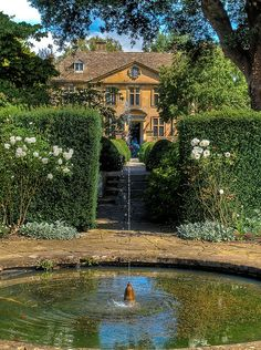 The Fountain Garden at Tintinhull in Somerset; by anguskirk on Flickr