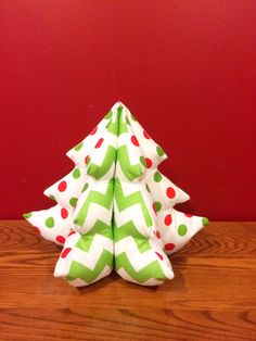 Red and Green Chevron and Polka Dot Christmas by LindasOtherLife, $22.50