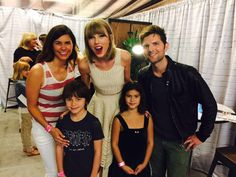 """Pin for Later: All the Celebrities Who Popped Up at Taylor Swift's Sold-Out LA Shows Adam Scott The Parks and Rec star shared this photo and said, """"@taylorswift13 is a very nice person."""""""