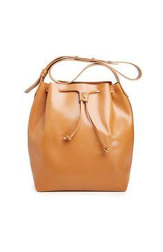 30d946143 Kelsi Dagger Leather Wythe Bucket Hobo Bag in Tan