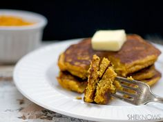 Butternut squash and cinnamon pancakes