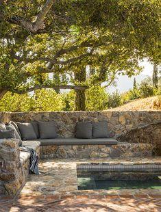Outdoor Rooms, Outdoor Gardens, Outdoor Living, Outdoor Seating, Backyard Patio, Backyard Landscaping, Outside Living, Stone Houses, Garden Cottage
