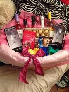 c6c3beaeebd DIY bridal shower gift basket (wine