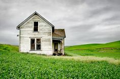 """""""Abandoned Farmhouse in Field"""" by Randall Roberts"""
