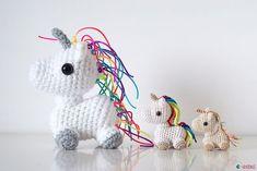 Free Amigurumi Unicorn Pattern : Rainbow cuddle unicorn amigurumi free crochet pattern your crochet