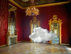 Artist Creates Cloud Imitations in Empty Rooms - CAT IN WATER