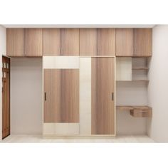 Flowering Cherry Modular Wardrobe Online Comes With Trending Colour And Also with Laminate Finish - Adorn Your Bedroom With A Latest And Stylish Wardrobe Design Bedroom Cupboard Designs, Wardrobe Design Bedroom, Bedroom Furniture Design, Modern Bedroom Design, Closet Bedroom, Loft Closet, Blue Bedroom, Master Bedroom, Sliding Door Wardrobe Designs