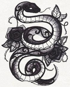 1125855 Dark Creatures Snake design from largest size Snake Drawing, Snake Art, Snake Sketch, Body Art Tattoos, Tattoo Drawings, Urban Tattoos, Snake Images, Dark Creatures, Poster Print