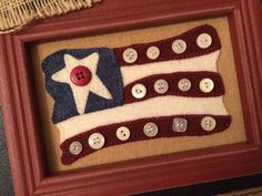 Stars and Stripes wool applique kit and pattern 2019 The post Stars and Stripes wool applique kit and pattern 2019 appeared first on Wool Diy. Motifs Applique Laine, Wool Applique Patterns, Felt Patterns, Embroidery Patterns, Felt Embroidery, Felt Applique, Primitive Embroidery, Felted Wool Crafts, Felt Crafts