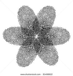 #fingerprint #flower #tattoo Great Idea! Adding this to my sleeve for sure. 6 Pedals! Mom, me, Blaine, Cristian, Julissa, and Kaylina!