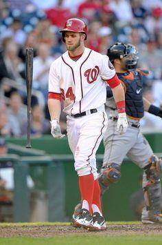 Bryce Harper. Stirrups. #baseball #nationals