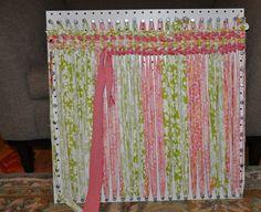 Peg board + screws = loom for rug weaving!