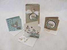 Painted Petals mini cards, 3x3, mini treat bag thinlits