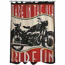 Black+Harley-Davidson+Shower+Curtain | Vintage Motorcycle Shower Curtain Bathroom Tub Modern Harley Davidson ...