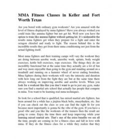 Just uploaded MMA Fitness Classes in Keller and Fort Worth Texas http://www.scribd.com/doc/132457229/MMA-Fitness-Classes-in-Keller-and-Fort-Worth-Texas via @Scribd