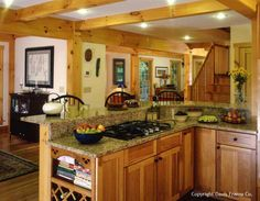 Farmhouse post and beam kitchen