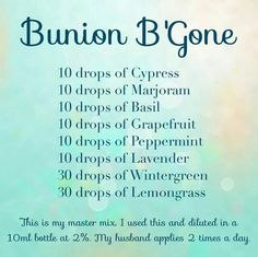 Bunion B'Gone. Are you interested in learning more about Young Living Essential Oils? Do you want to join me and become a Lemon Dropper? Contact me: Kristen Arland; Member #2144717; kristen.arland@gmail.com