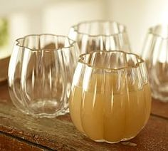 Pumpkin Glassware (to go with the drink dispenser) from Pottery Barn