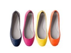 Vera Wang Lavender 'Lara' flat in Mali Blue, Paparazzi Pink, Citron Yellow, & Orange Max! Oh my I love all the colours!!