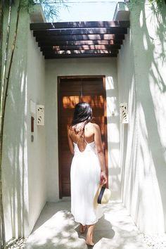 Backless dress #bohemian #chic
