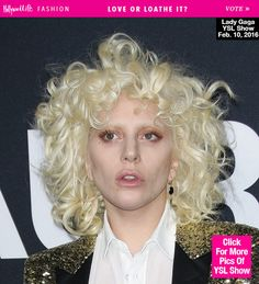 Lady Gaga's Beauty At Saint Laurent Show — Love Or Loathe Her Look ...