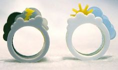 Cute stack rings with clouds