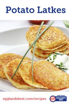 Make this classic recipe from Eggland's Best. #Latkes #Recipe