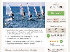 szörf oktatás a Balatonon 50% kedvezménnyel és bejárós szörftábor napi 2 szörfözéssel