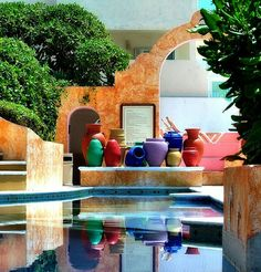 Pool Side, Cancun, Mexico