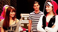 Lea Michele, Chris Colfer and Darren Criss