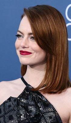 Cabelo Inspo, Bob Hairstyles, Emma Stone Hairstyles, Emma Stone Haircut, Actress Emma Stone, Gorgeous Redhead, Beautiful, Rides Front, Copper Hair