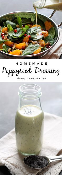 A fresh, healthy Poppyseed Dressing that you can whip up in just seconds! Way better than store-bought!